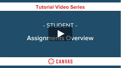 Students - Canvas Assignments Overview Video
