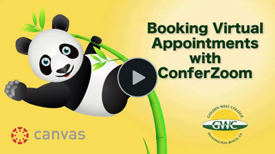 Students - Canvas Booking Virtual Appointments with ConferZoom Video