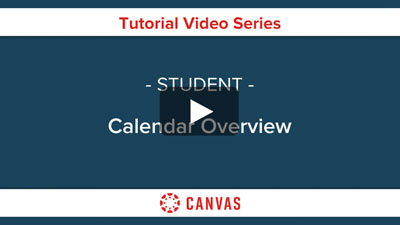 Students - Campus Calendar Overview Video