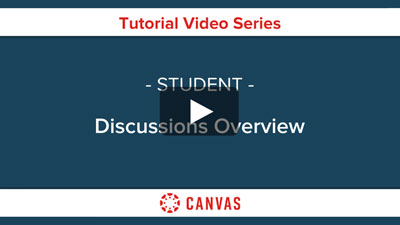 Students - Canvas Discussions Overview Video