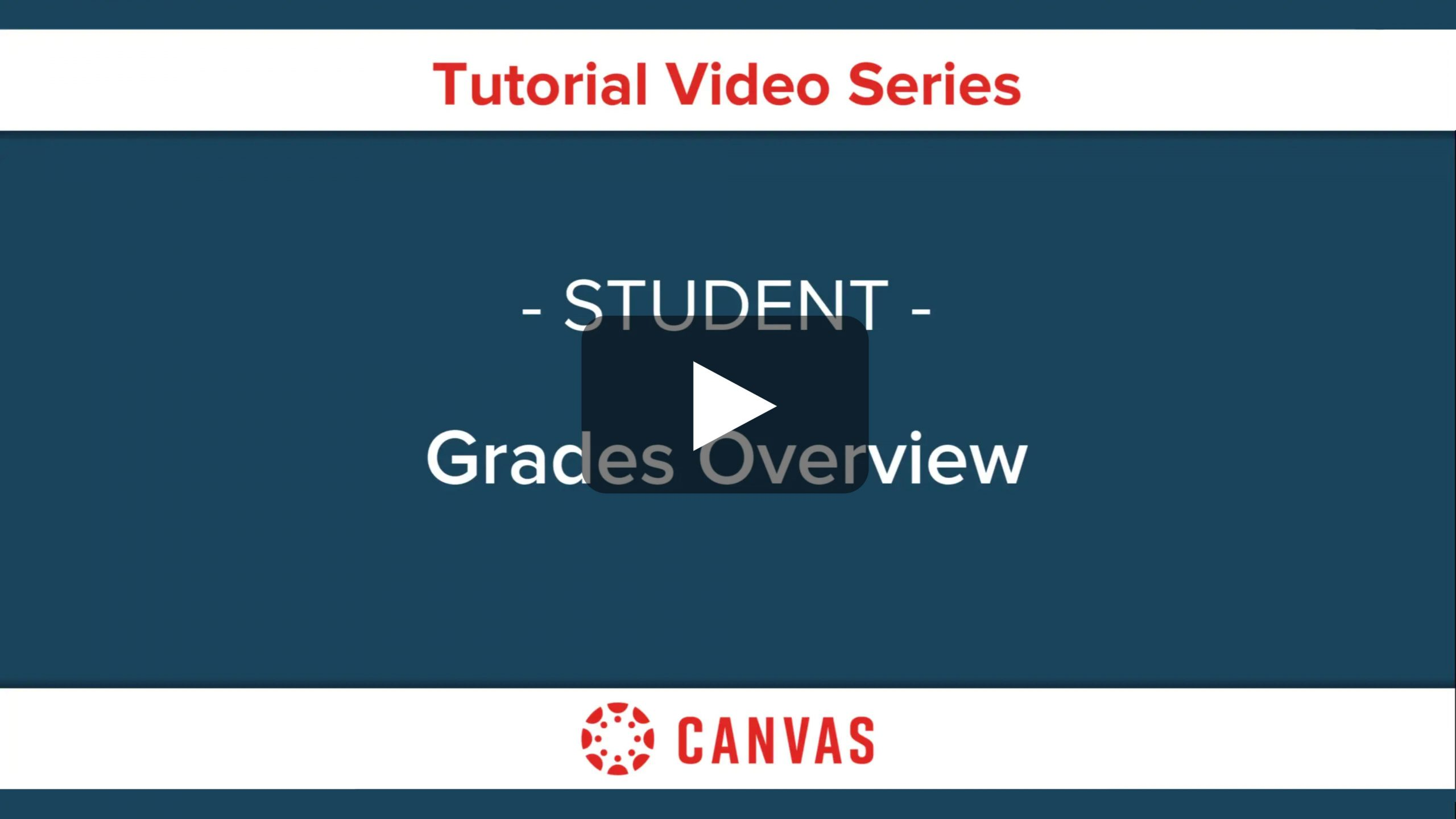 Students - Canvas Grades Overview Video