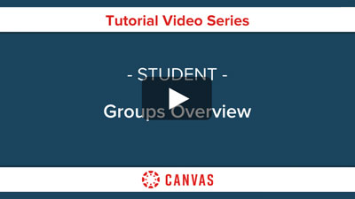 Students - Canvas Groups Overview Video