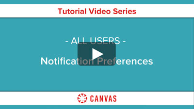 Students - Canvas Notification Preferences Video