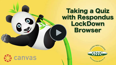Students - Canvas Taking a Quiz with Respondus LockDown Browser Video