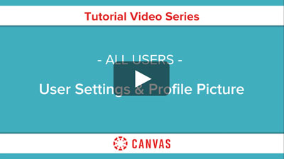 Students - User Settings & Profile Picture Video