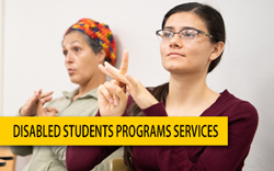 Disabled Students Programs Services