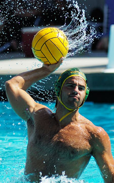 GWC Water Polo State Player and International Student Emilio Vieiria