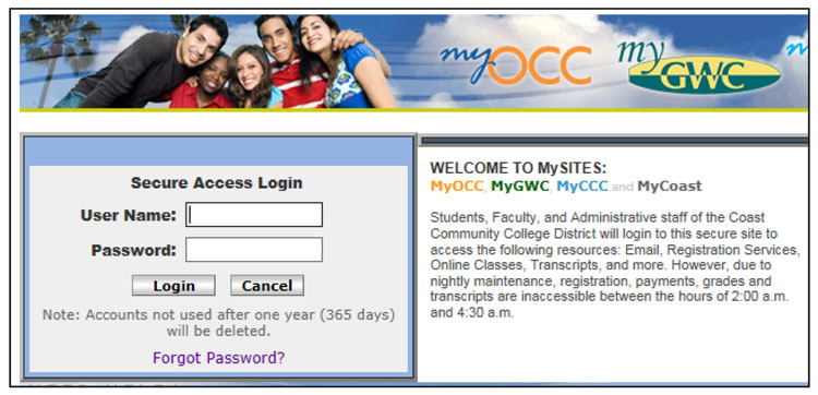 Log-into MyGWC to Check status