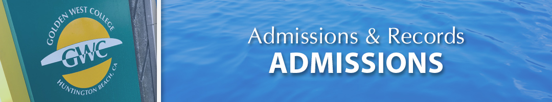 Admission and Records - Admissions