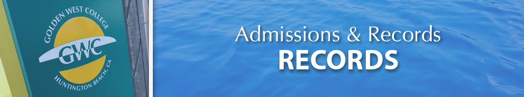 Admissions & Records - Records