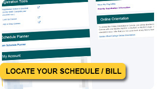 How to Locate your Class Schedule/ Web Schedule Bill