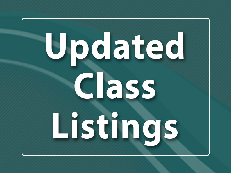 Updated Course Listings